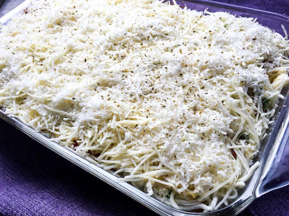 uncooked vegetarian lasagna