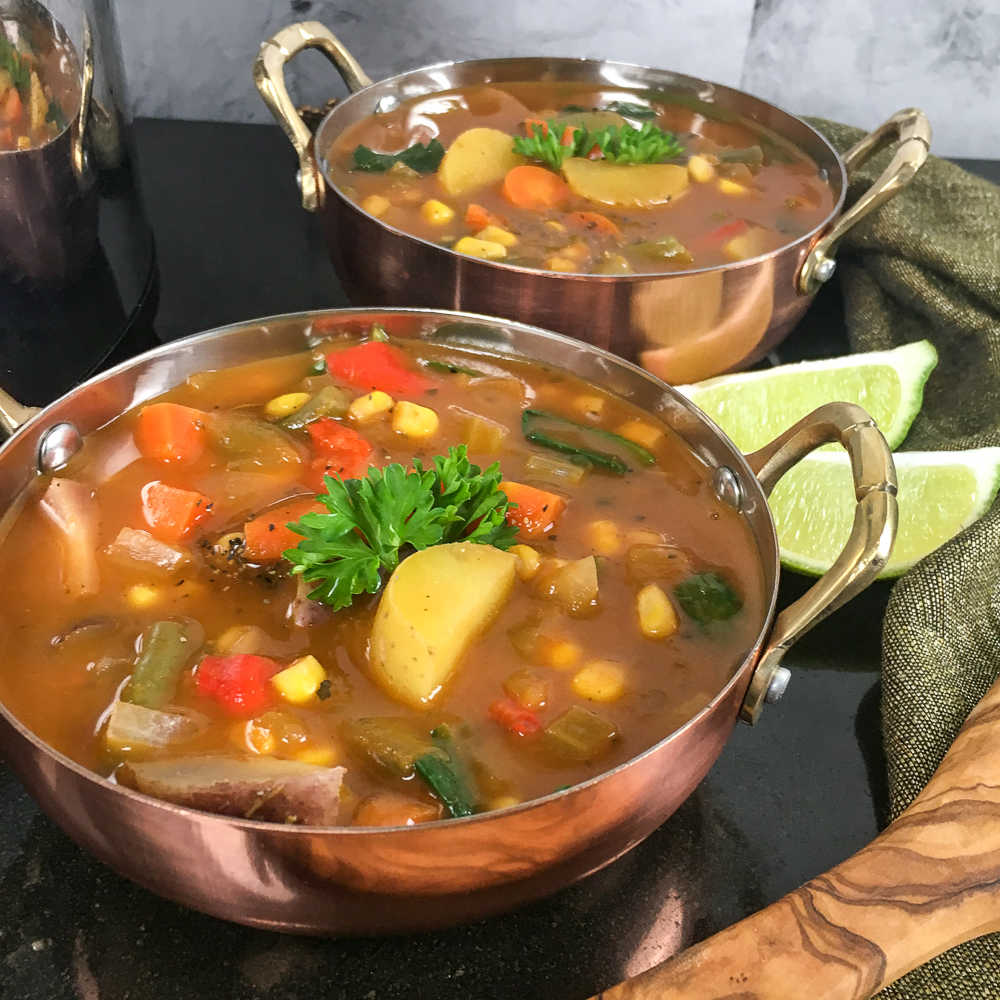 bowls of vegan soup
