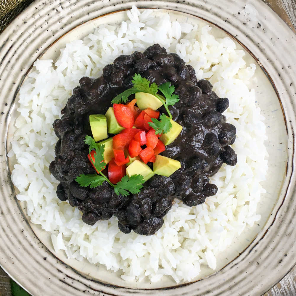 ip black beans and rice