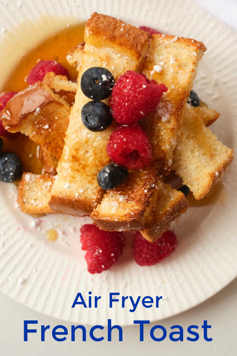 Surprise your family with a satisfying homemade breakfast, when you use my maple air fryer egg-free French toast sticks recipe.