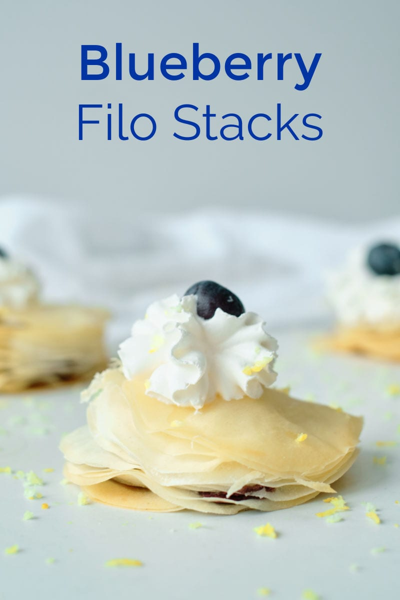 These blueberry filo stacks are easy to make, look great and, of course, these little pastries are an absolutely delicious treat.