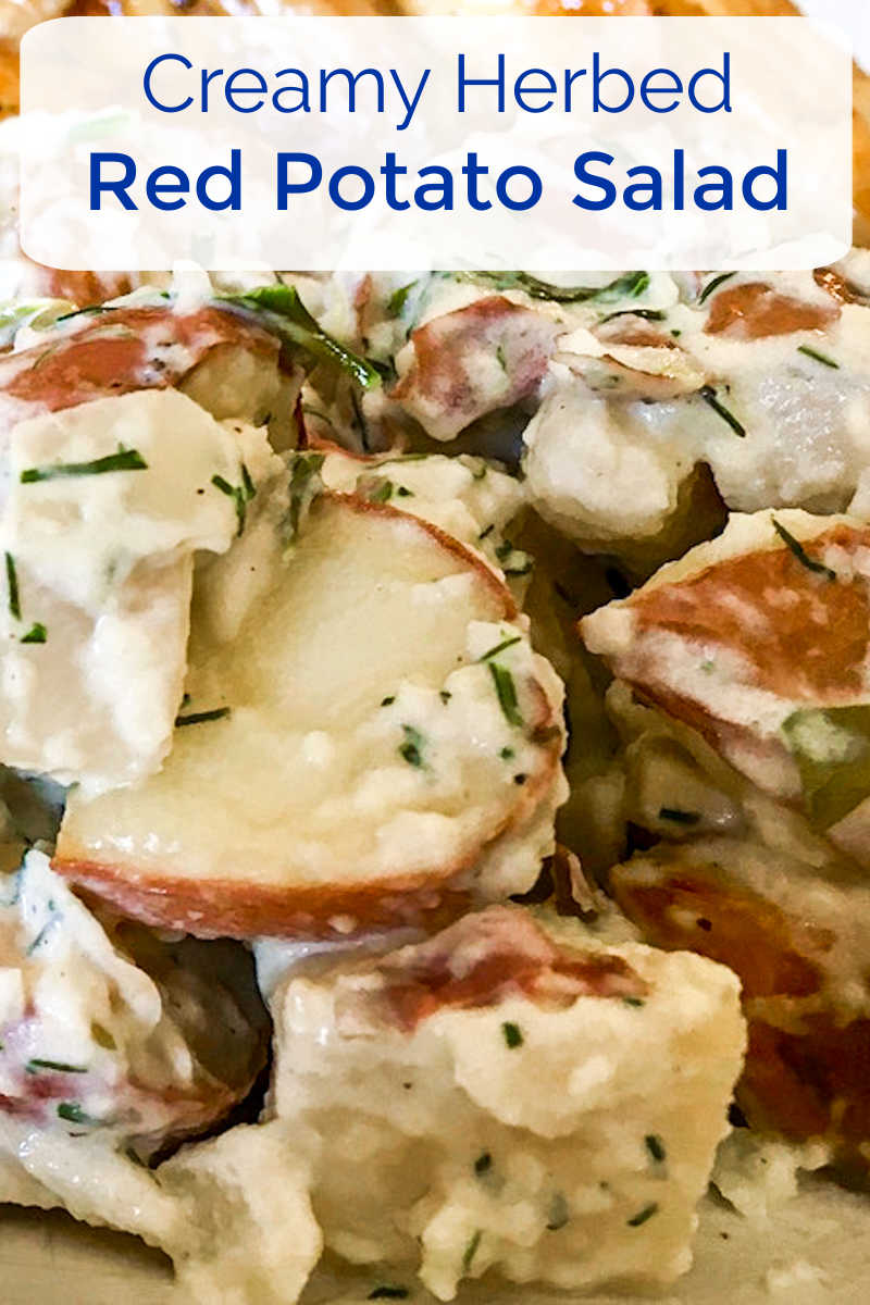 This creamy herbed red potato salad is a picnic favorite, so it's great that it can be made in a microwave oven.