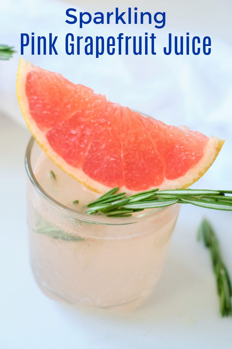 Enjoy a glass of sparkling pink grapefruit juice, when you want a simple drink that will make any morning more special.