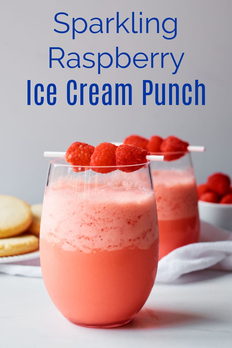 Enjoy this pretty raspberry sparkling ice cream punch, when need a treat or to celebrate Christmas, Valentine's Day or a birthday.