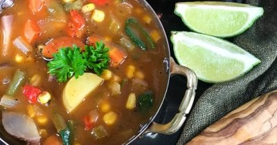 vegetable soup with lime