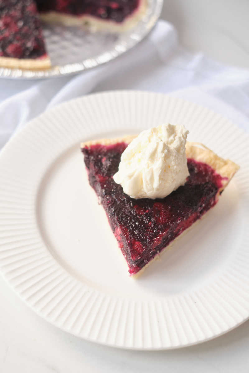 Enjoy a slice of this berry jello pie, which is made with real fruit and unflavored gelatin instead of Jell-O, artificial flavors, colors and sugar.