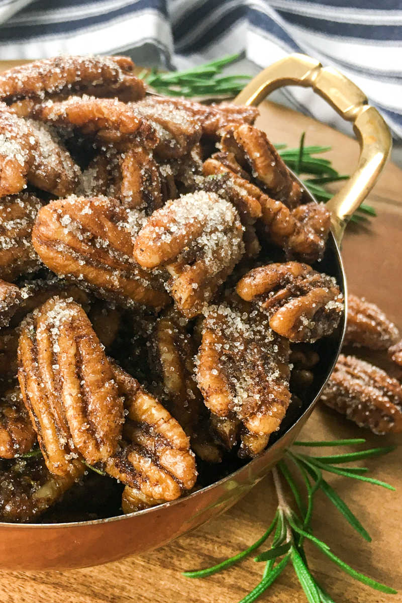 You are in for a sweet and spicy treat, when you snack on these delicious maple roasted sweet hatch chile pecans.