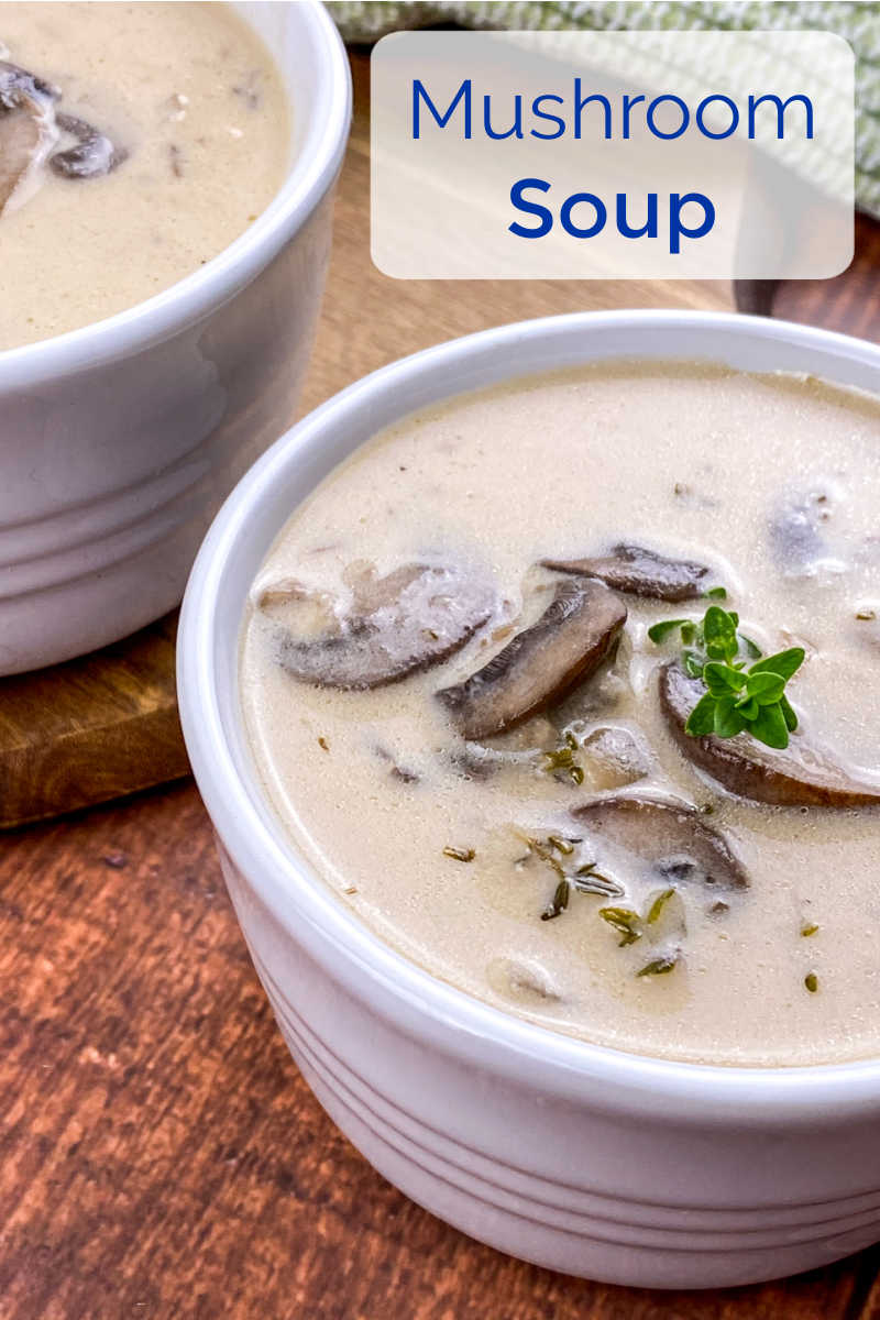 A bowl of creamy portobello mushroom soup is an earthy comfort food treat, but the soup can also be used in casseroles and other dishes.