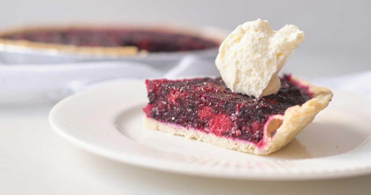 slice of jello pie with whipped cream.