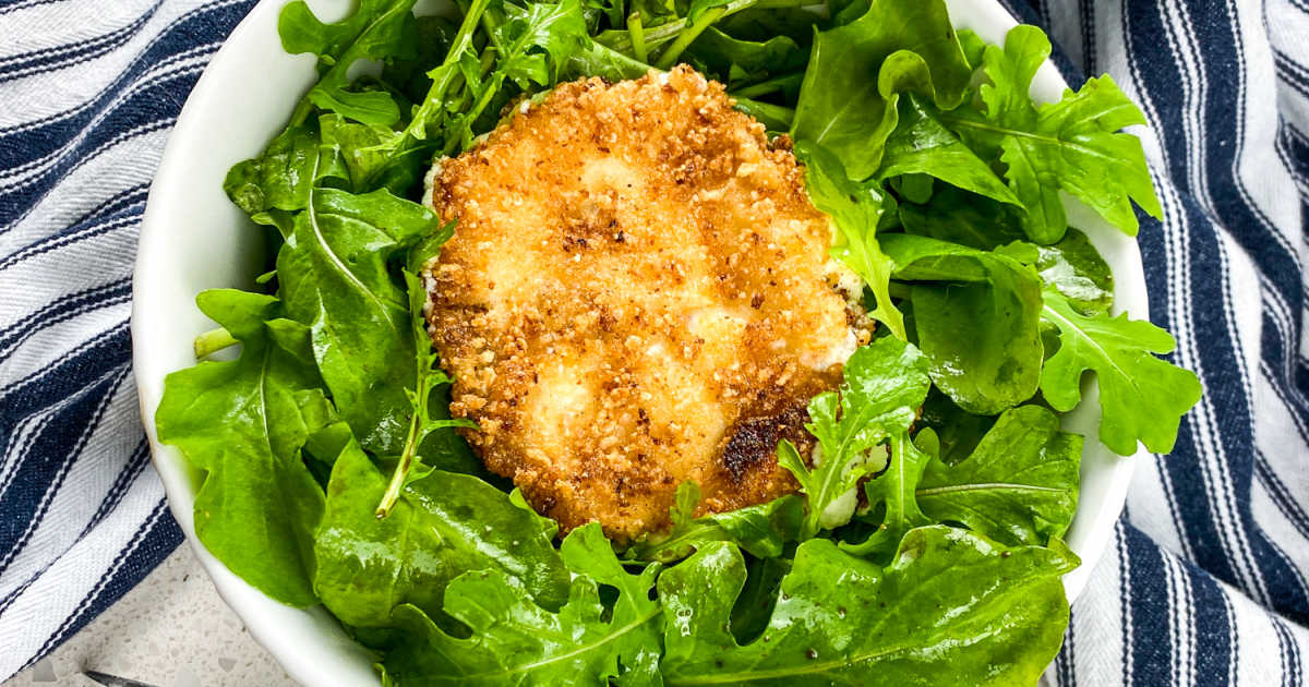 breaded goat cheese salad.