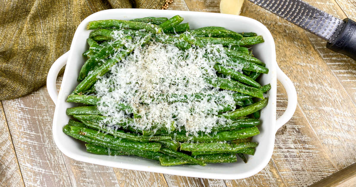 easy roasted green beans.