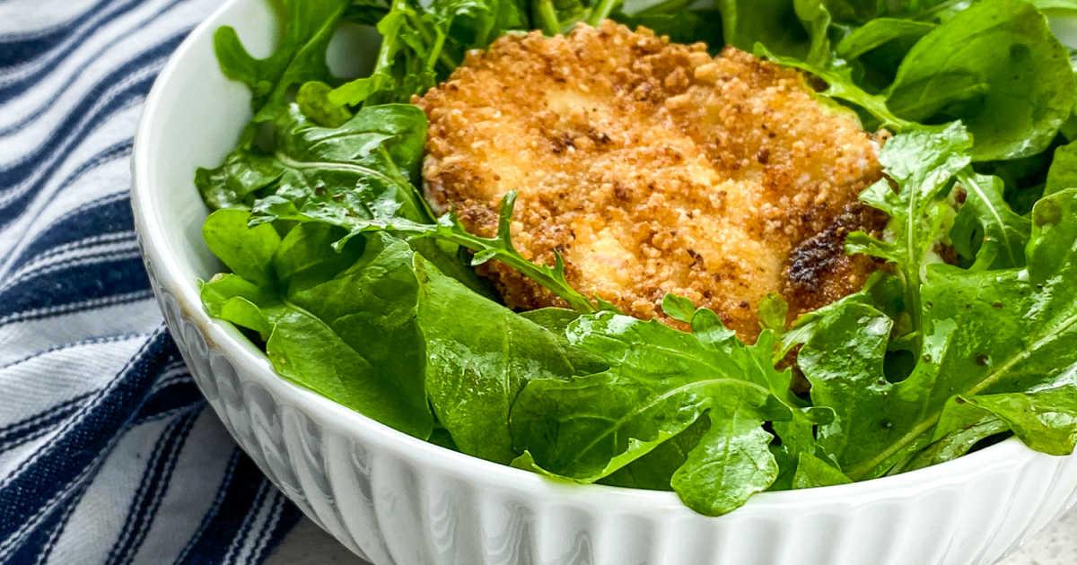 panko fried goat cheese salad.