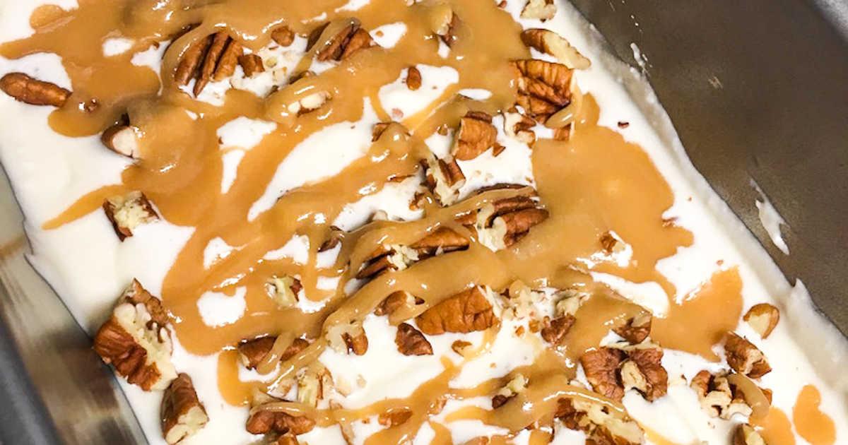 salted caramel no churn ice cream.