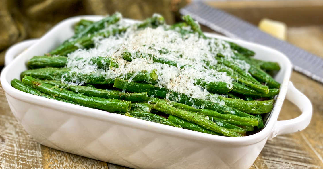 green beans with parmesan.