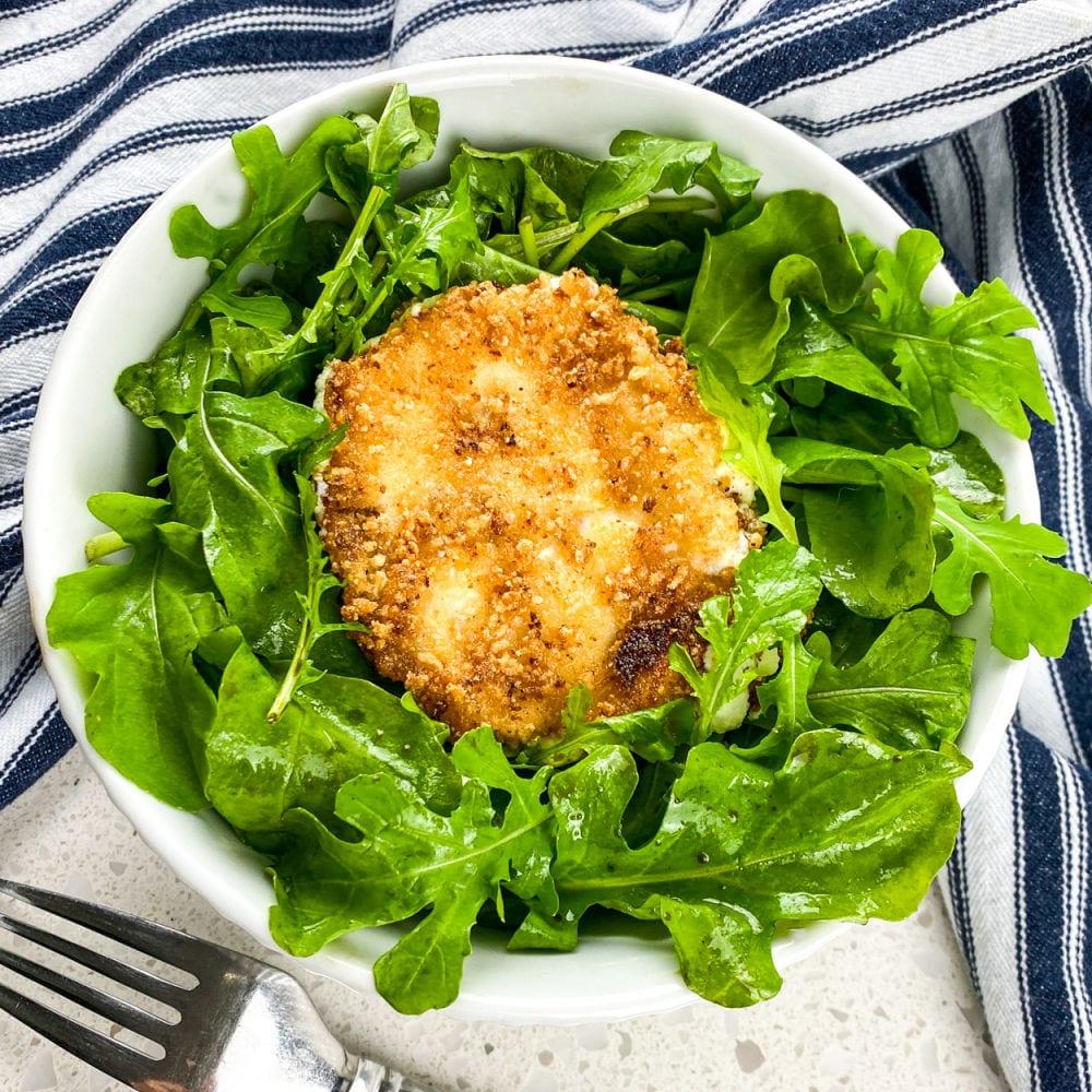 panko goat cheese salad.