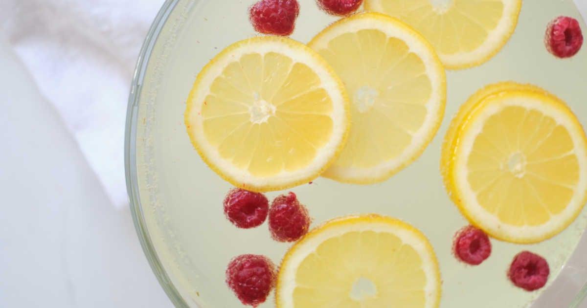 lemonade punch in bowl.