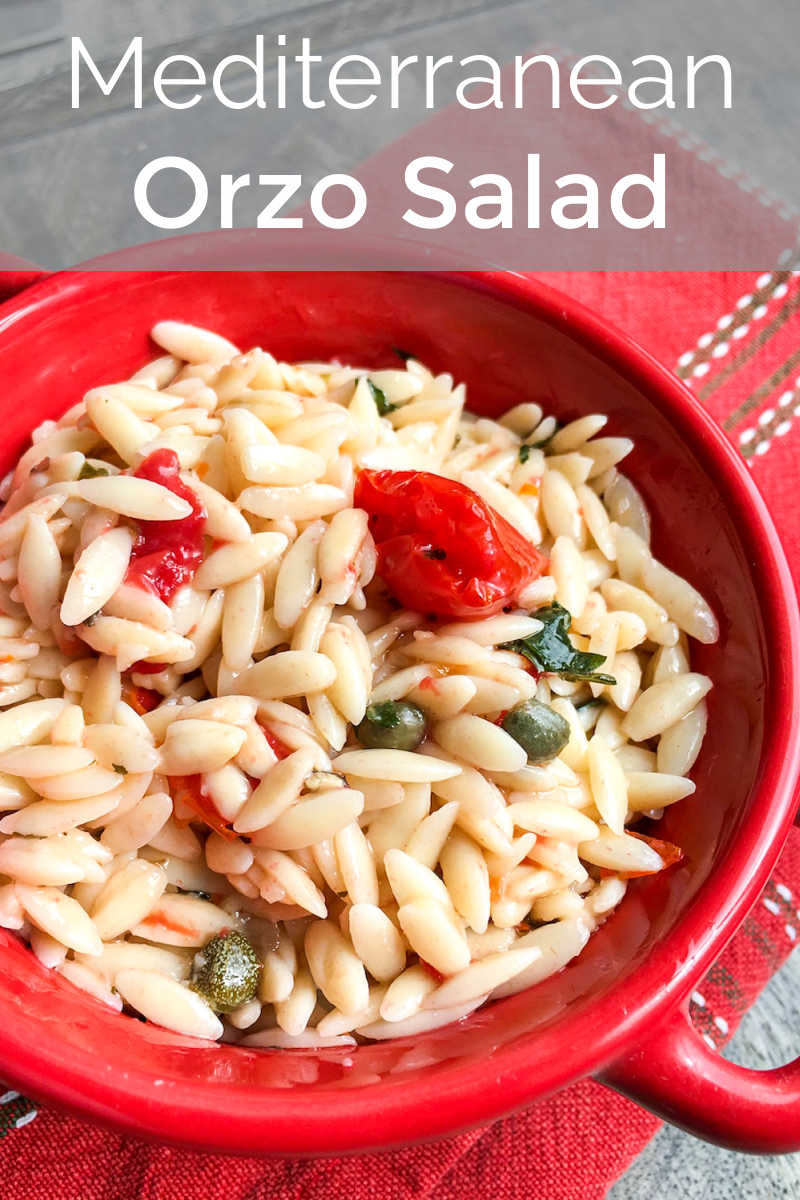 Enjoy this Mediterranean orzo salad with capers and fresh tomato, when you want a satisfying chilled pasta dish that is simple to prepare.