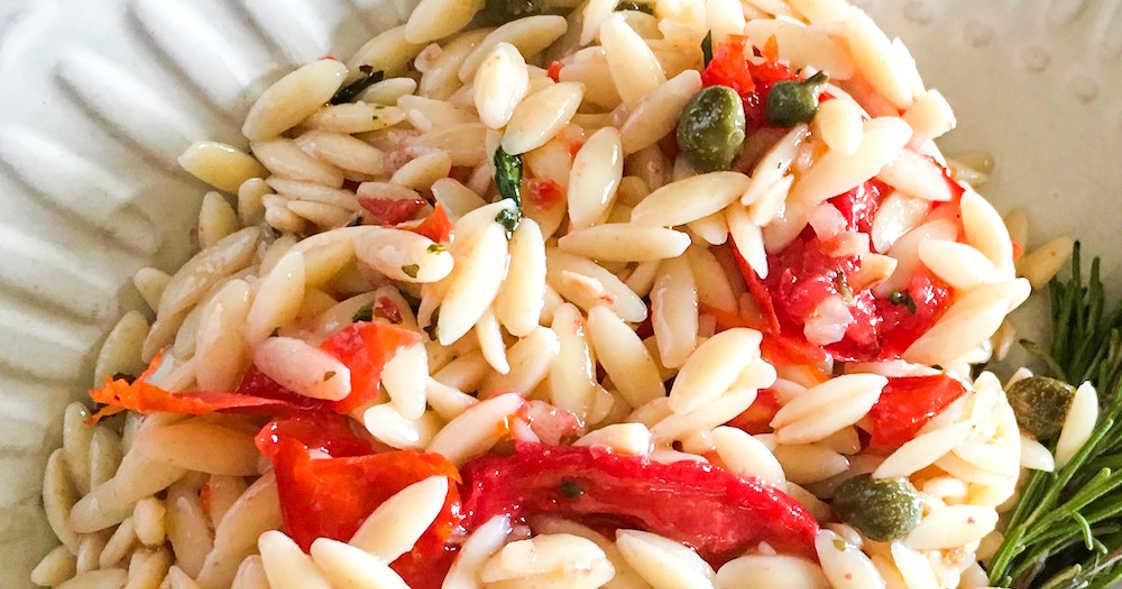 mediterranean orzo pasta salad.