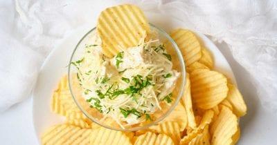 chips and parmesan dip.