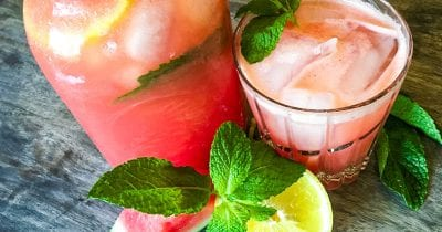 mint watermelon lemonade.