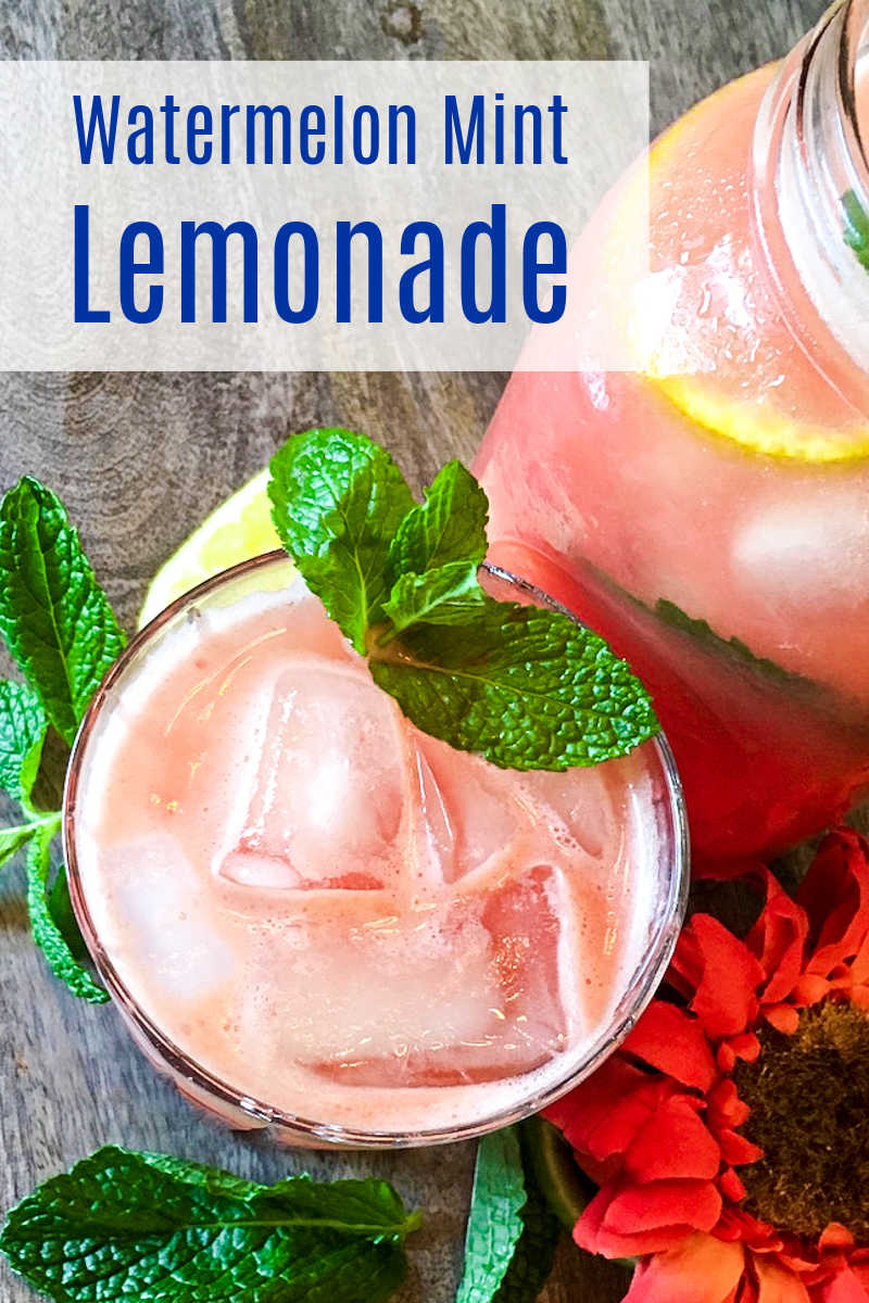 The fresh flavors of Summer are deliciously combined, when you drink this homemade watermelon mint lemonade.