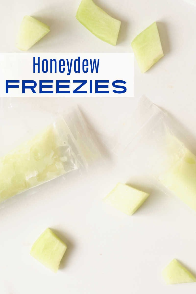 When you want an easy frozen fruit treat, enjoy a homemade honeydew melon freezie that is naturally sweet without added sugar.