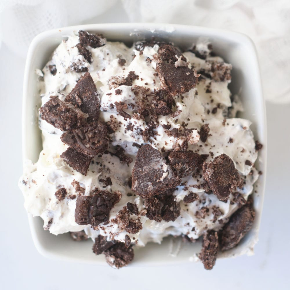 oreo dessert dip without berries.