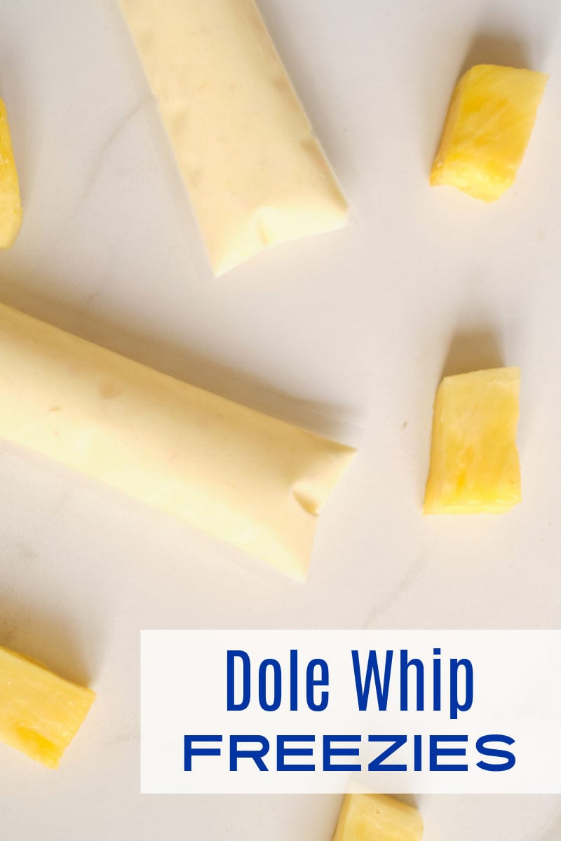 Make these fun and refreshing Dole whip freezies, when you want a pineapple treat that reminds you of Disney and Hawaii.