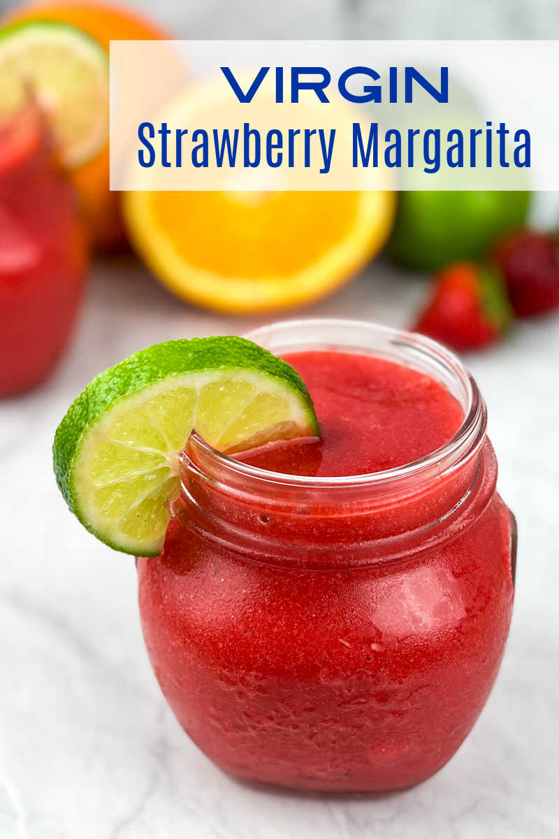 This virgin strawberry frozen margarita recipe is deliciously refreshing for the whole family, since it doesn't contain alcohol.