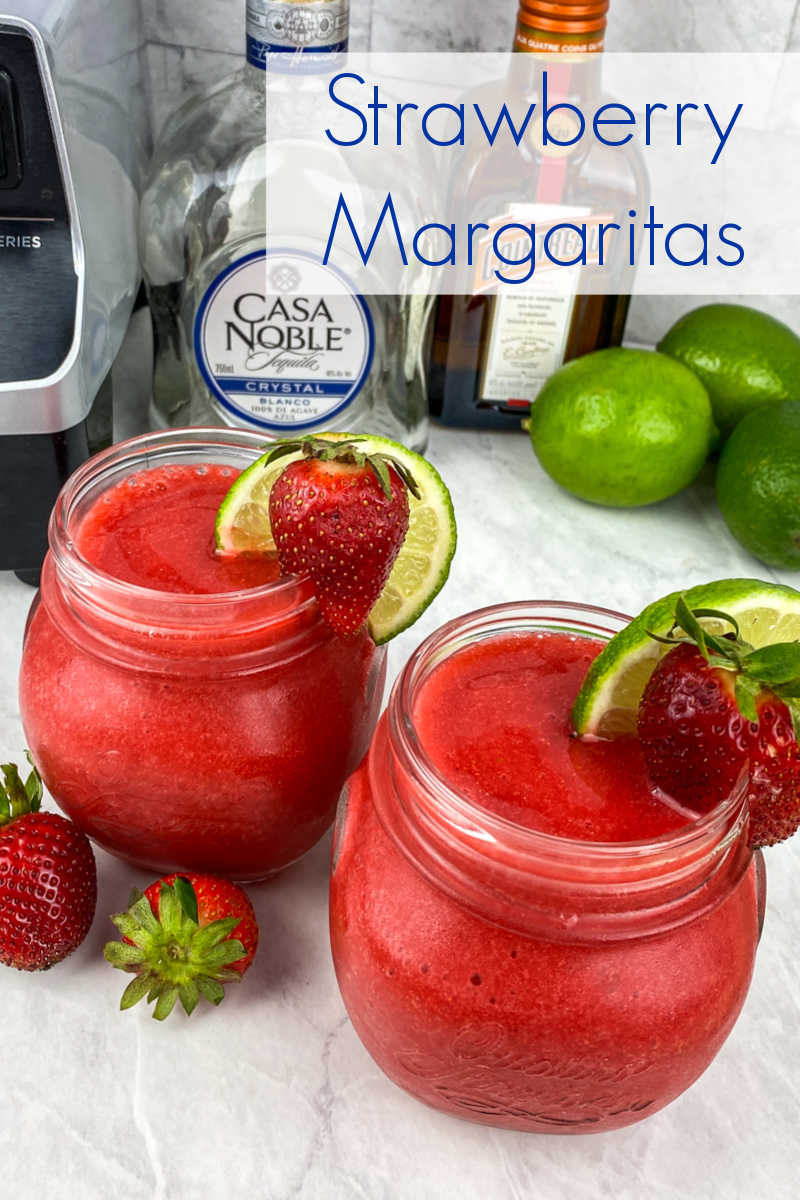 This classic strawberry margarita is just what you need for taco Tuesday or anytime you want a fruity frozen cocktail.