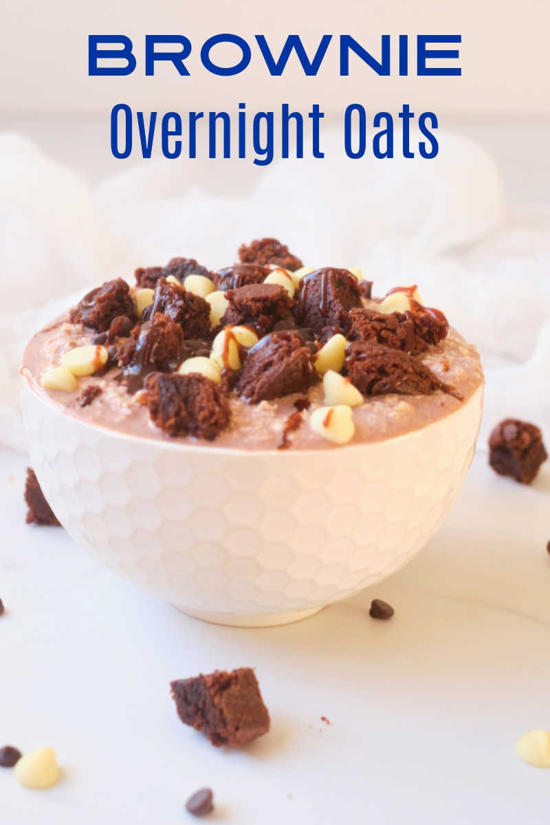 Oatmeal is generally breakfast, but these brownie overnight oats are a delicious dessert with added nutrition from oats.