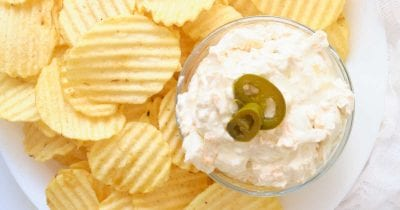 chips and jalapeno dip.