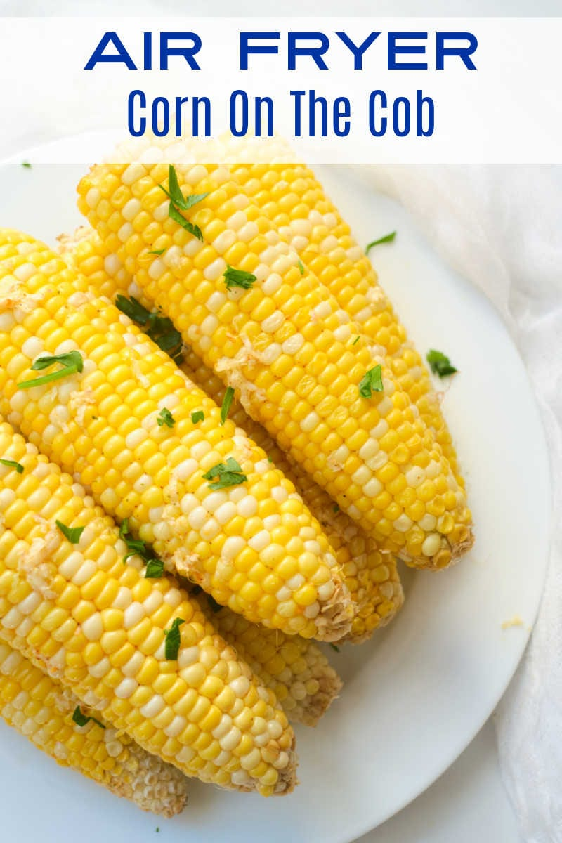 It is quick and easy to make delicious air fryer corn on the cob, so you can enjoy this Summer favorite without working up a sweat.