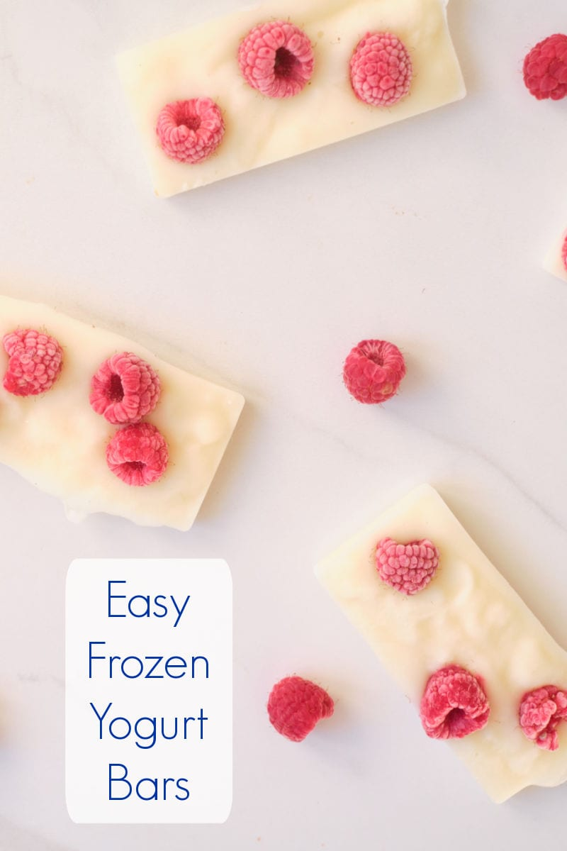 These easy frozen yogurt bars topped with fresh raspberries taste like dessert, but are perfectly appropriate for breakfast, too.
