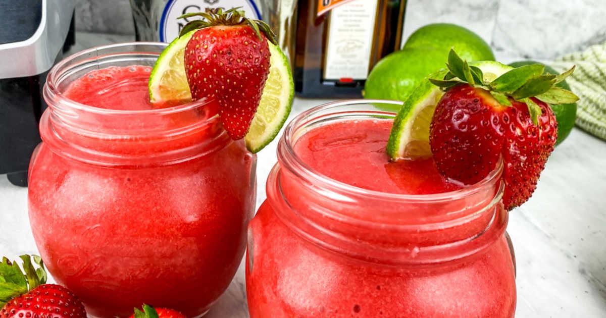 feature classic strawberry margarita.