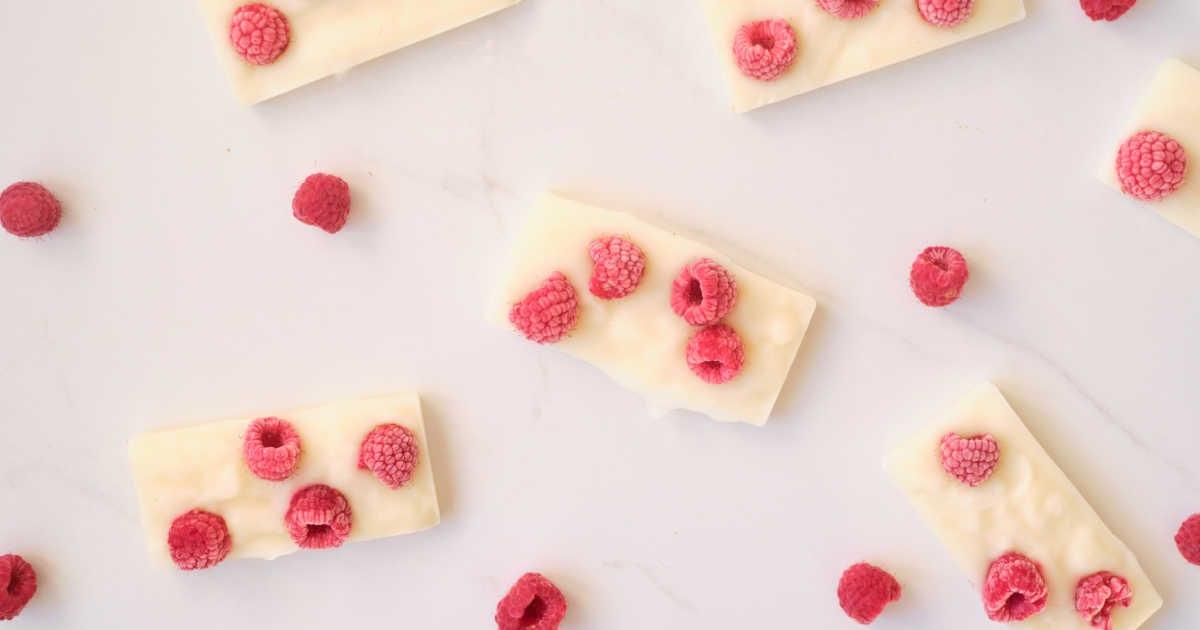 frozen yogurt bars flat lay.