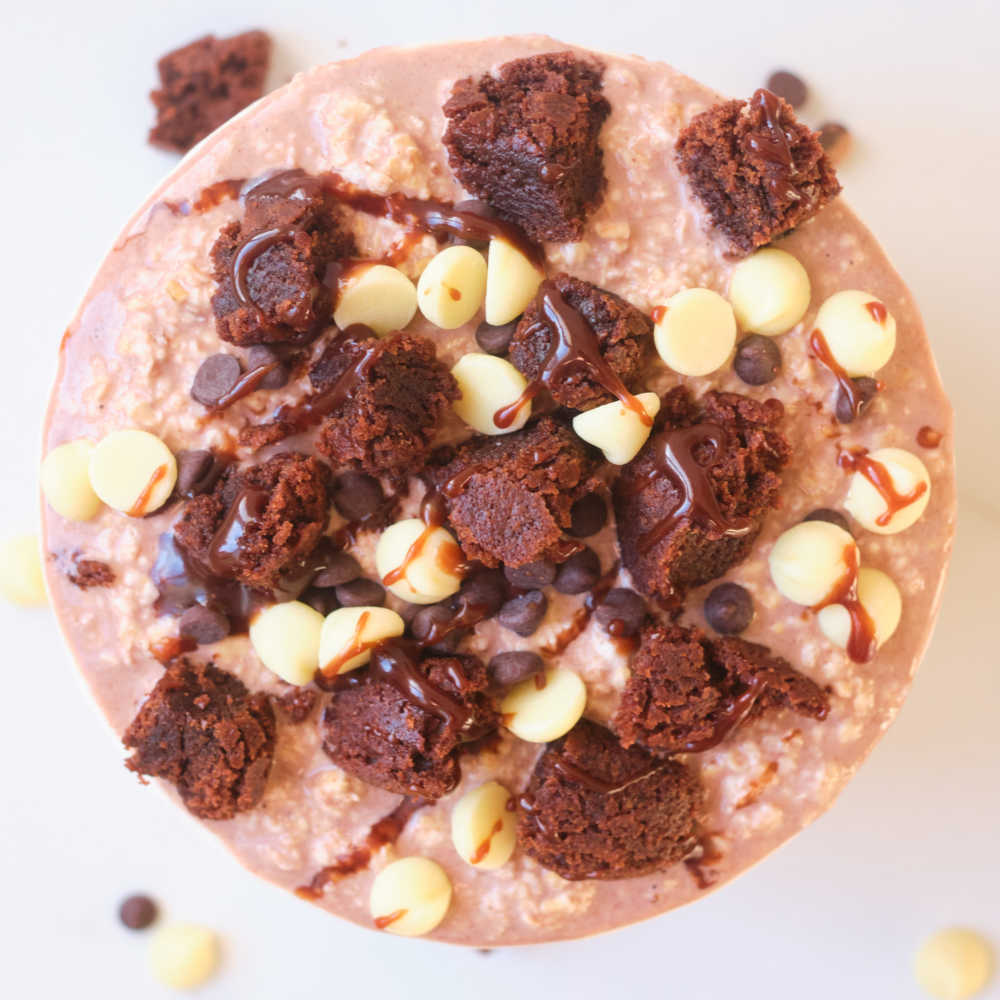 brownie overnight oats.