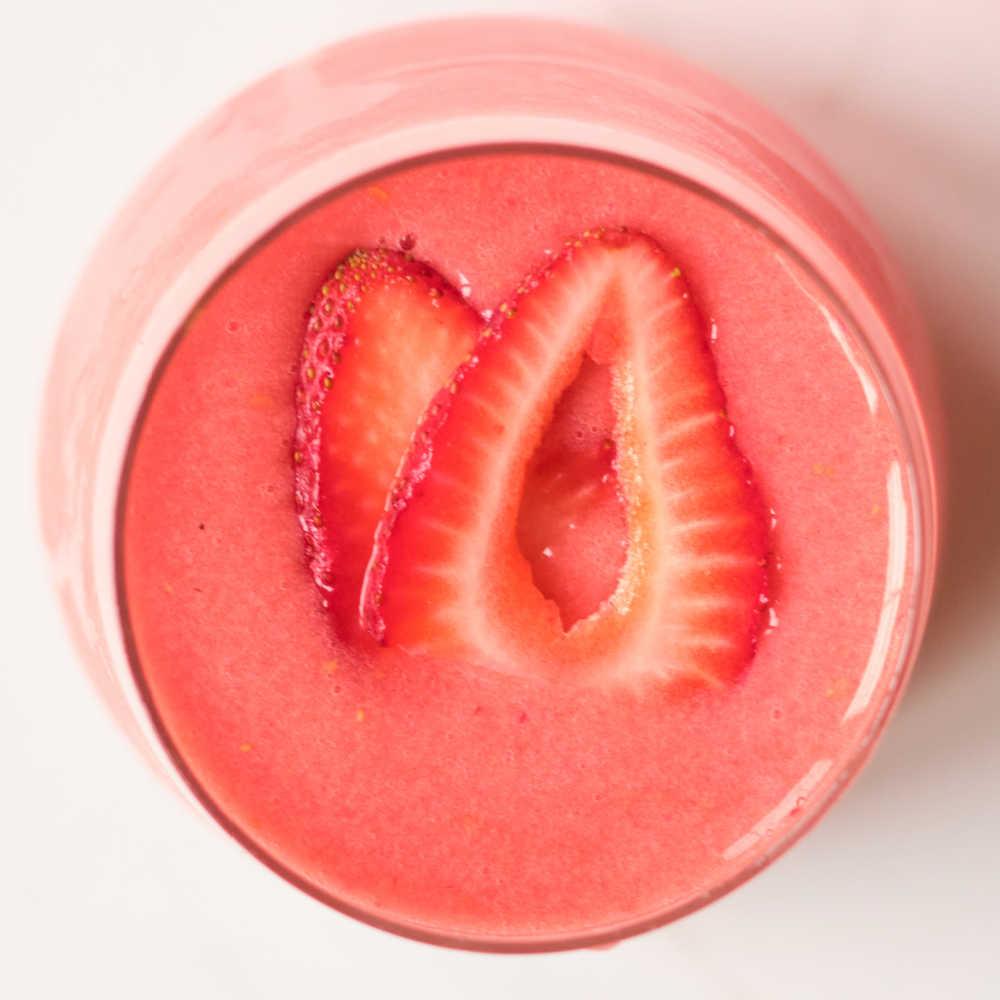 vegan sorbet shake.