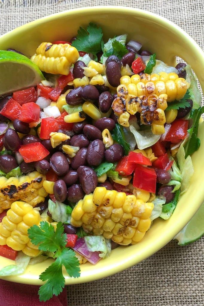 Vegan Mexican Avocado Salad Recipe #VeganSalad #MexicanFood #MexicanSalad #Vegetarian #VegetarianSalad