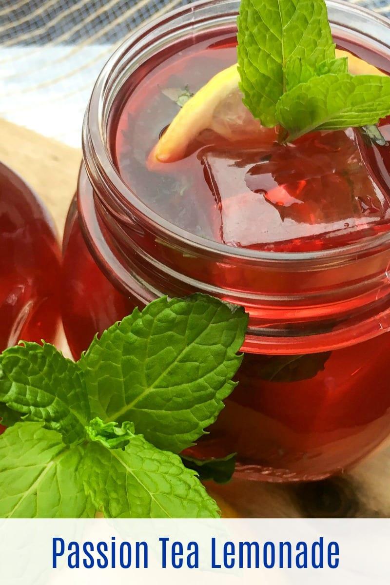 Passion Iced Tea Lemonade Recipe #PassionTea