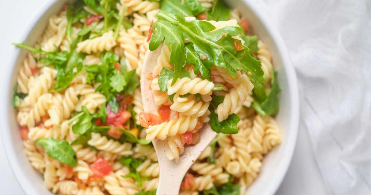 arugula Bruschetta pasta salad