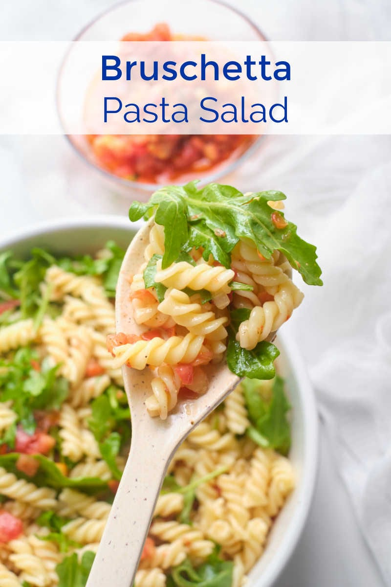 Here is an easy bruschetta pasta salad that always gets rave reviews, even though it takes minimal effort to make it.