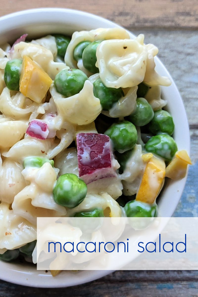 I've always loved macaroni salad with frozen peas, but these days I've changed it up a little from the classic version that my mom made.