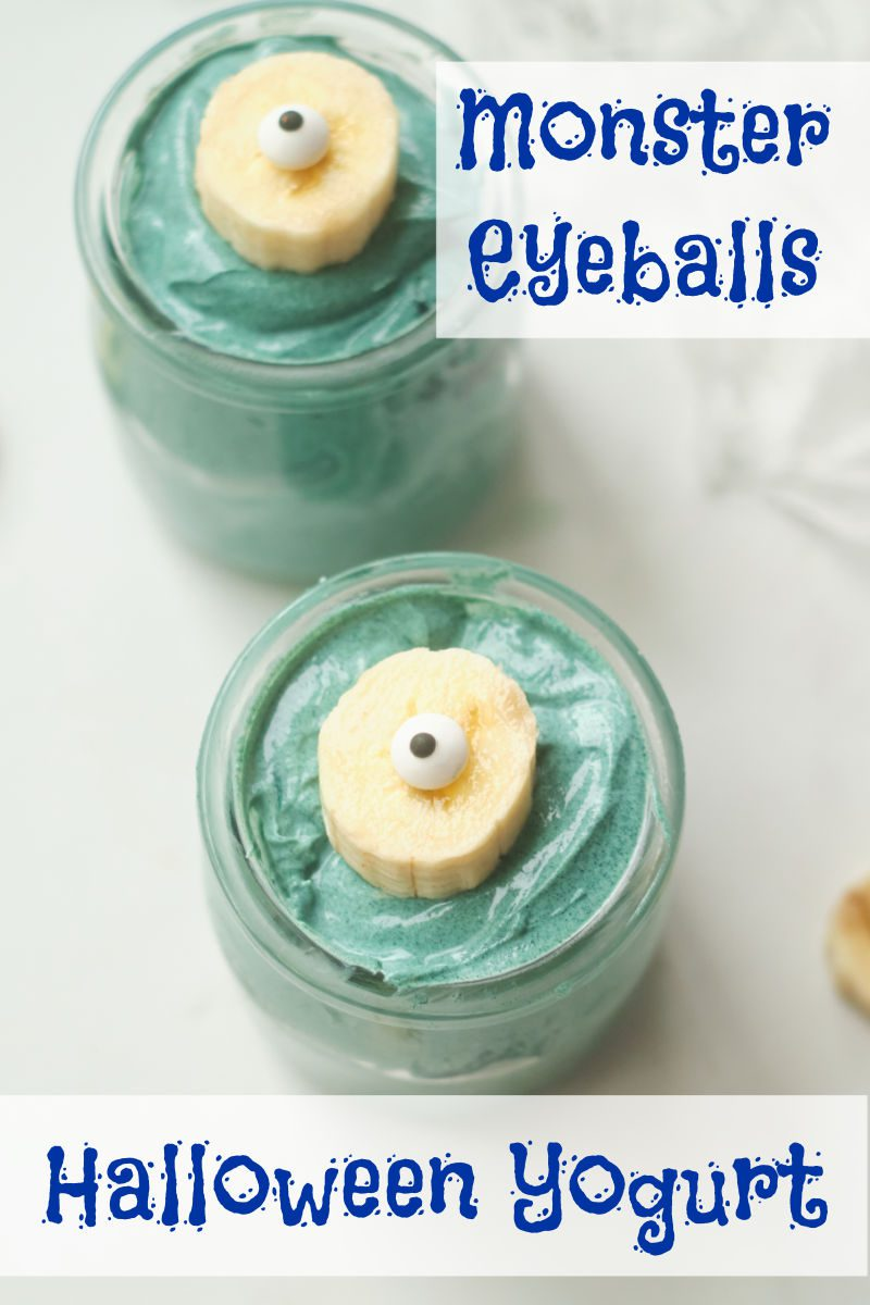 When you want some extra fun for breakfast on Halloween, make my monster eyeball yogurt to delight the family.