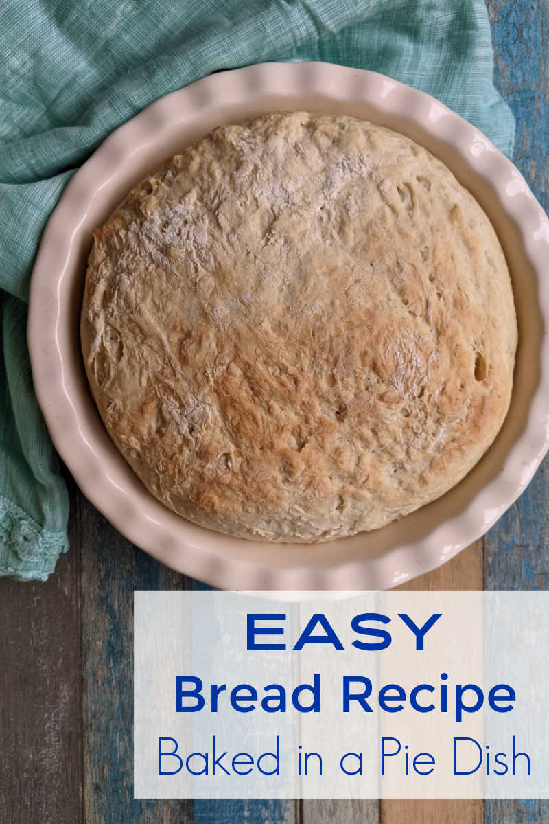 This easy bread recipe is good for beginners, and you can use a pie dish instead of a loaf pan. Follow the steps and learn how to make this simple yeast bread.