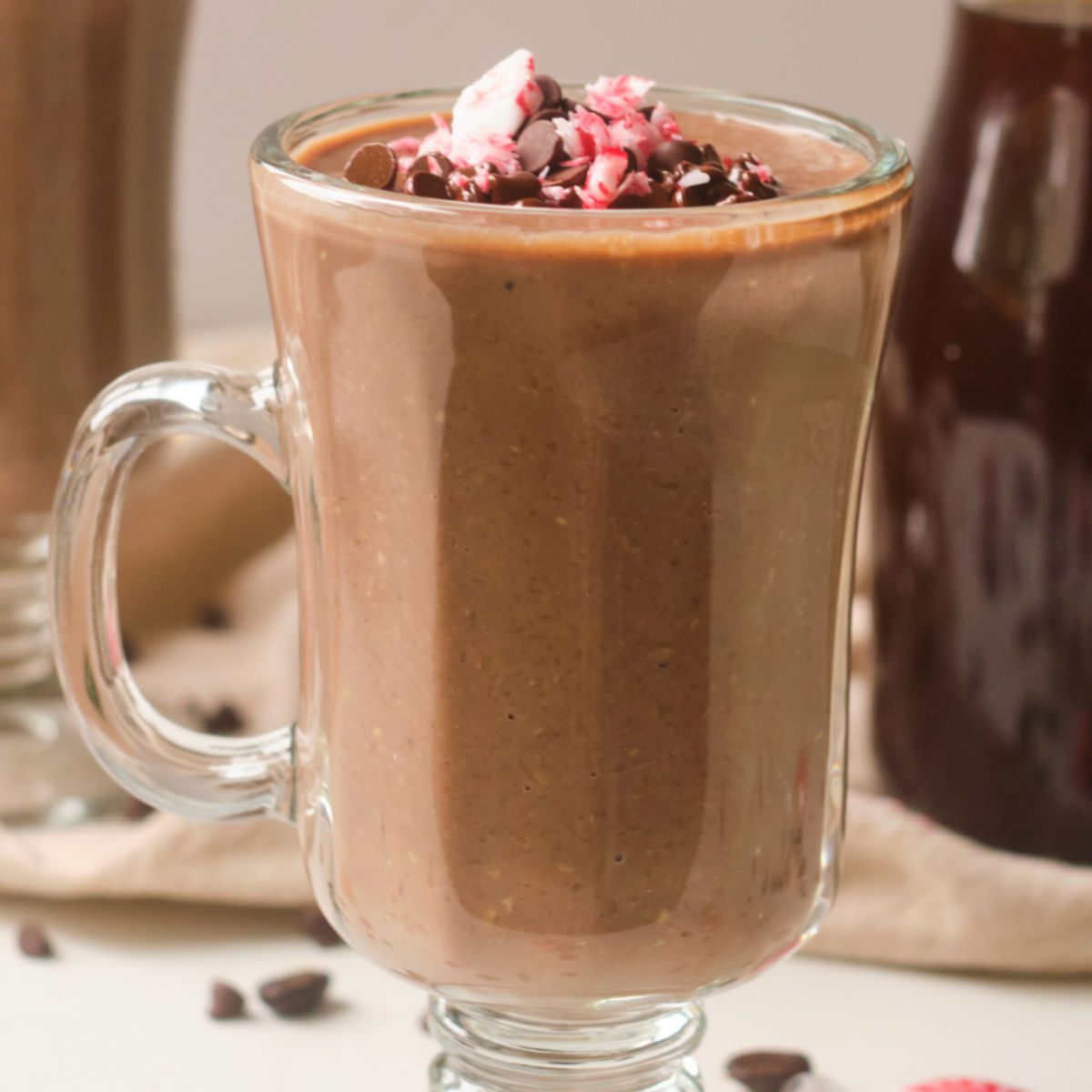 chocolate protein oatmeal warm smoothie