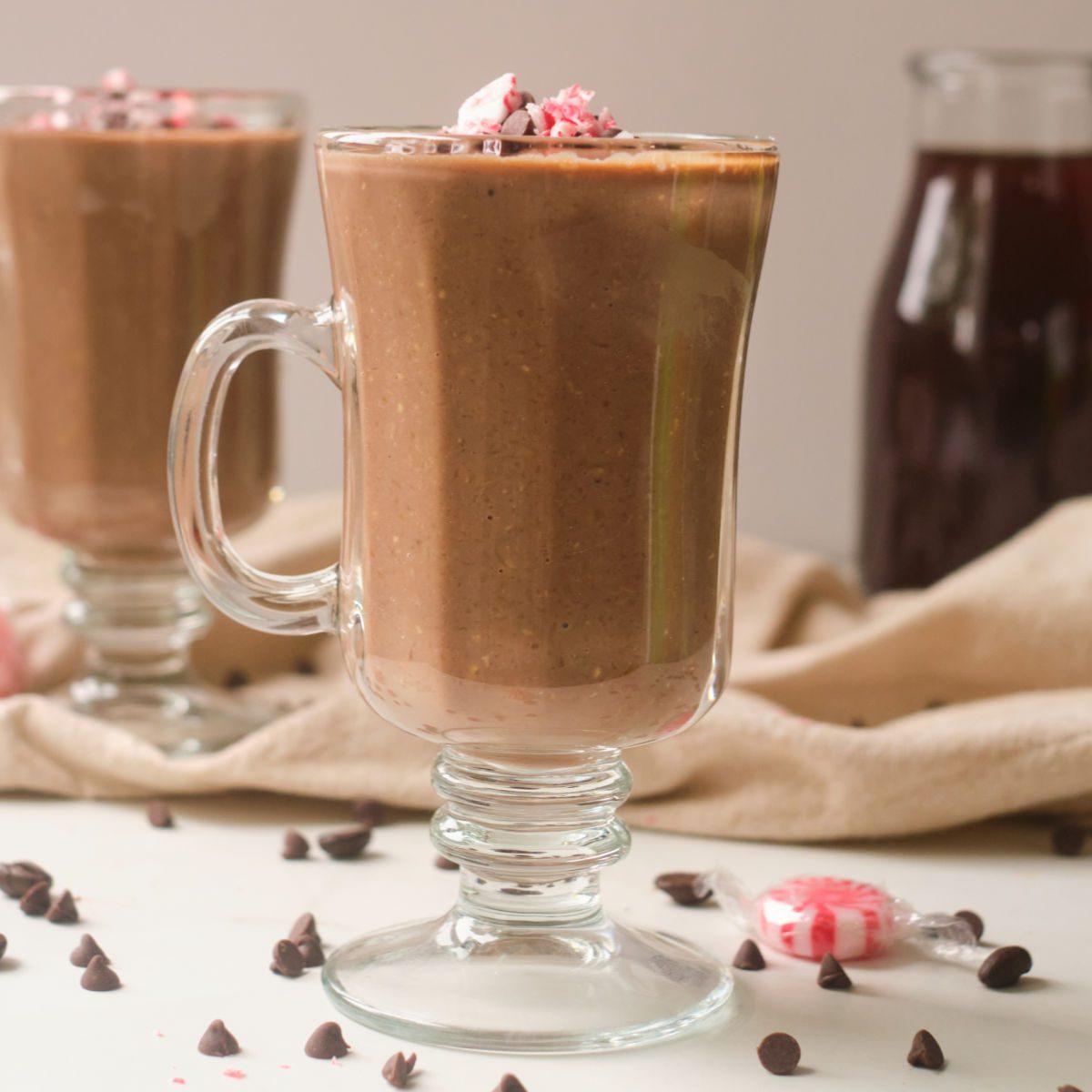 chocolate coffee warm smoothie