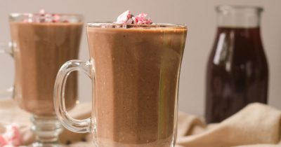 warm mocha smoothies with protein