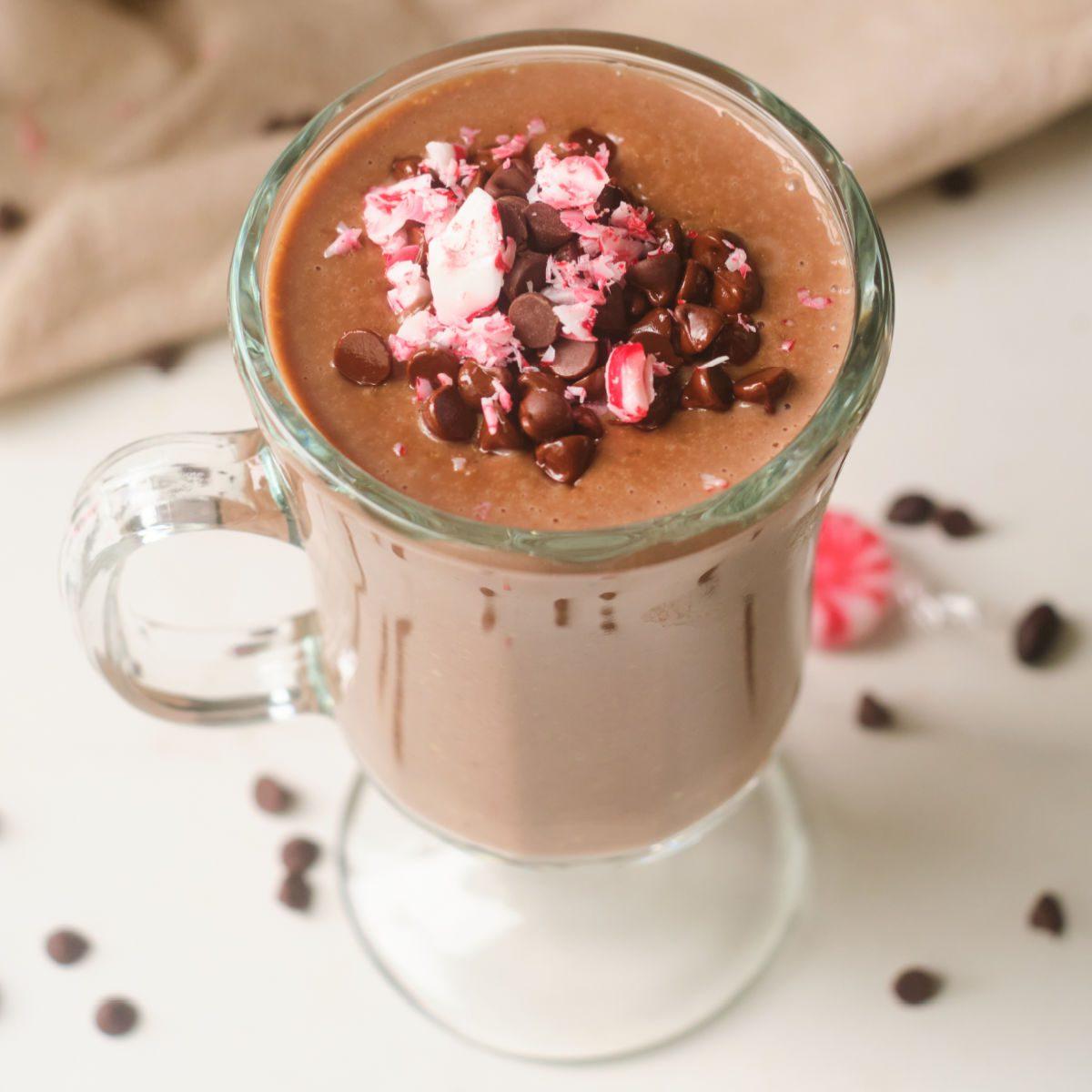 warm protein oat smoothie